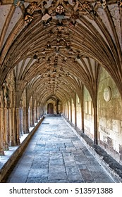 Arch Cloister in Canterbury Cathedral in Canterbury in Kent in the UK. It is one of the most famous cathedrals in England. It is the Archbishop of Canterbury Cathedral.