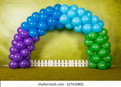 Arch of colorful balls