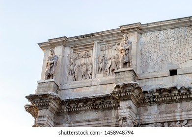 The Arch of Constantine in front of Coloseum Rome Italy