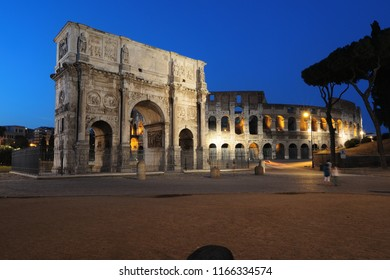 The Arch of Constantine is a triumphal arch in Rome, situated between the Colosseum