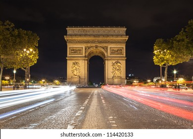 Arch de Triomphe and Champs-Elysees
