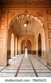 Arch Design Inside Badshahi Mosque Lahore