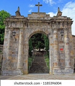 the arch of the former cemetery of Bilbao located on the Calzadas de Mallona