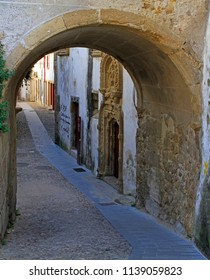 arch gates in hoistorical center of Coimbra, Portugal