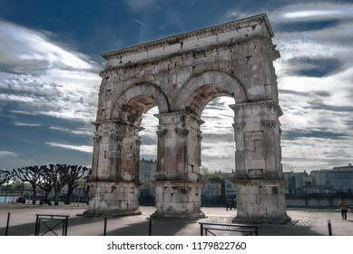 The arch of Germanicus is an ancient Roman arch in Saintes, Charente-Maritime in France