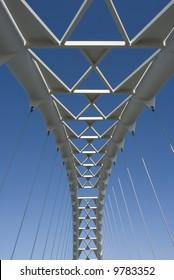 The arch of the Humber River suspension bridge in Toronto Ontario Canada.