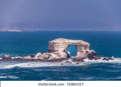 Arch of La Portada in Antofagasta, Chile