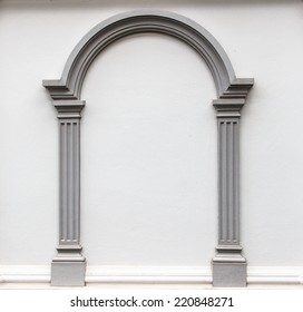Arch Molding on Concrete Wall