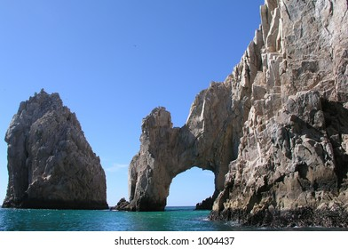 Arch and rock in Cabo San Lucas