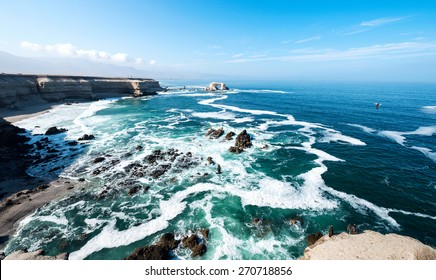 Arch Rock Formation in La Portada National Reserve  â?? rock-emblem coast of Chile