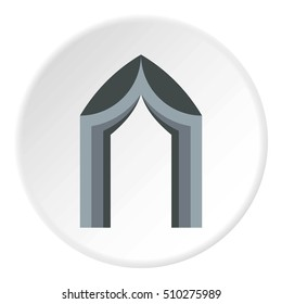 Arch tent icon. Flat illustration of arch tent  icon for web