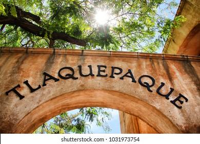 arch at the Tlaquepaque shopping area in Sedona Arizona