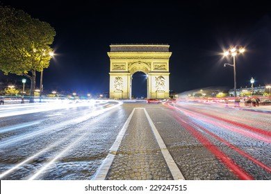 Arch of Triumph in the evening, Paris, France