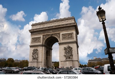The arch of Victory in Paris France