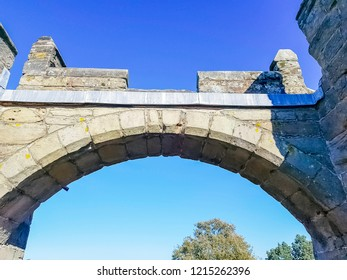Arch in Warwick Castle - Warwick, Warwickshire, United Kingdom on 21 October 2018