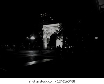 The Arch in Washington Square Park, at NYU in Greenwich Village.