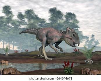 Archaeoceratops dinosaur - 3D render
