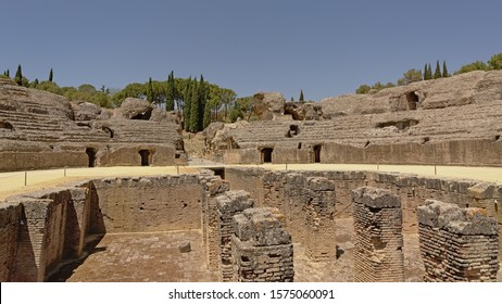 Archaeological excavation of the ruins of Italica, Roman city in the province of Hispania Baetica near the current village of Santiponce, Sevilla, Andalusia, Spain
