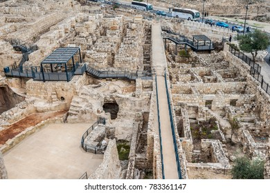 Archaeological excavations near the walls of the old city in Jerusalem
