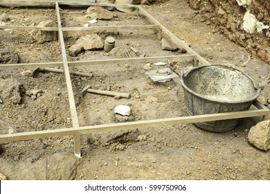 Archaeological excavations on land, professional work and history