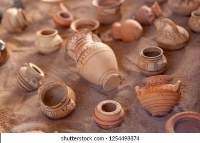 Archaeological Museum Fira Santorini Greece August 27 2018 miniatures