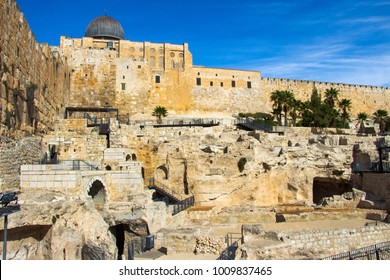 Archaeological Park Davidson Center. Jerusalem. The Old City. Israel.