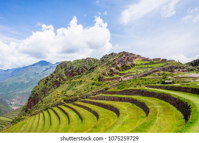 Archaeological park of Pisac - Cusco, Peru. Abril 5, 2018