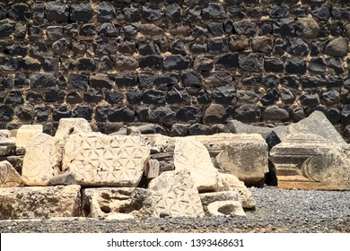 Archaeological ruins of Capernaum, town of St. Peter and Jesus, in Isreal