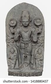Archaeological sculpture of Surya from tenth  century, Basalt, Bihar
