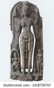 Archaeological sculpture of Tara Ca. 11th century, Basalt, Kurkihar, Bihar,  Appears as a female bodhisattva in Mahayana Buddhism, and as a female Buddha in Vajrayana Buddhism.