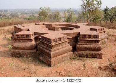 Archaeological Site of 5th-century, Remains of palace and capital of the Vakataka King, Mansar, Maharashtra, India.