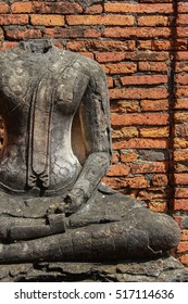 archaeological site at Ayutthaya in Thailand