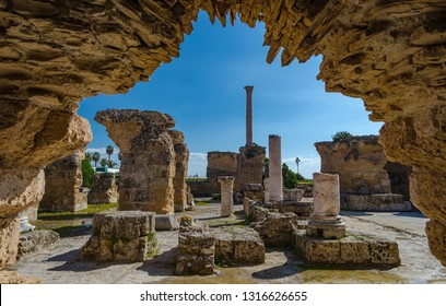 Archaeological Site of Carthage - The Baths of Antoninus or Baths of Carthage in Tunis