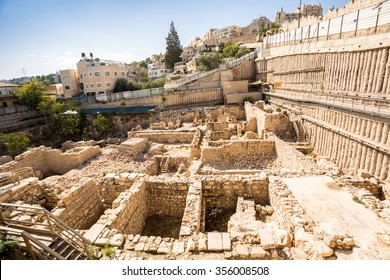 Archaeological site close to City of David in Jerusalem, Israel