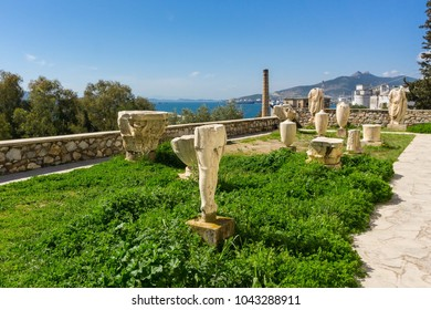 Archaeological site of Eleusis (Eleusina). Eleusina was mainly known for the Great Mysteries, as the Eleusinian Mysteries were also called, the most famous secret religious rite of the ancient Greece.