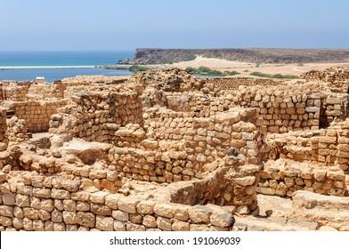 Archaeological site of Khor Rori / Sumhuram, near Salalah, Dhofar region (Oman)