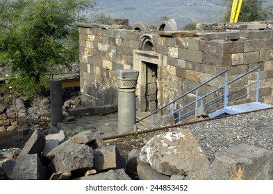 Archaeological site Mother of the Arches or Umm el Kanatir in Golan Heights, Israel