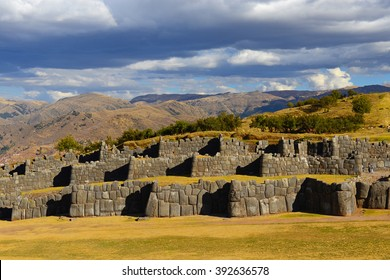 The archaeological site of Sacsayhuaman in Cusco, Peru.