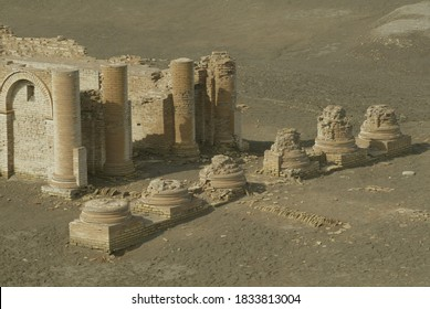 The archaeological site of Uruk (Warka), 30km east of Samawa, Iraq. The city's walls were built 4,700 years ago by the Sumerian King Gilgamesh, hero of the eponymous epic  - Shutterstock ID 1833813004