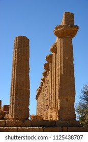 Archaeological site of Valley of Temples in Agrigento, Sicily, Italy