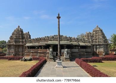 Archaeological survey of India Sri Veeranarayana temple. Belavadi, Karnataka, India