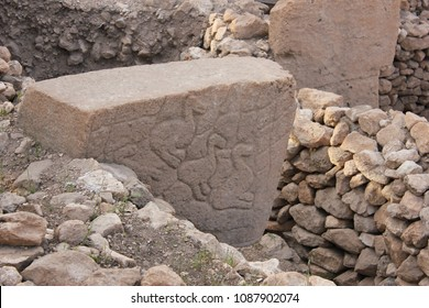 Archaeological work gobeklitepe turkey