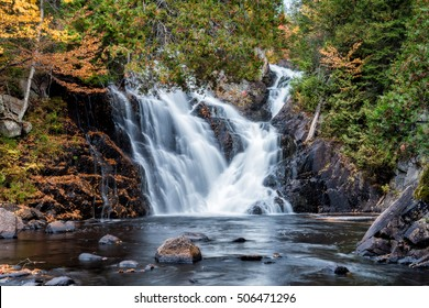 Archambault Waterfall in Mont Tremblant National Park Area, Quebec, Canada
