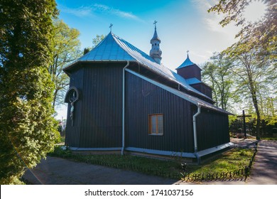 Archangel Michael Church in Zlota. Zlota, Lesser Poland, Poland. - Shutterstock ID 1741037156