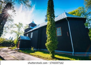 Archangel Michael Church in Zlota. Zlota, Lesser Poland, Poland. - Shutterstock ID 1741037162
