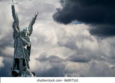Archangel Michael fights the dragon