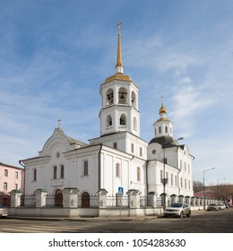 Archangel Michael Kharlampievskaya Church (built in 1777). Irkutsk, Russia.