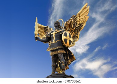 Archangel Michael Sculpture at Independence Square (Maidan Nezal