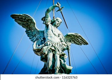 Archangel Michael a top of Castle of the Holy Angel, Rome, Italy