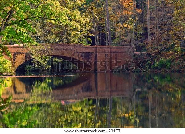 Arched Bridge in Autumn.